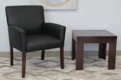 Boss B619 35.5H Box Arm Reception Room Chair