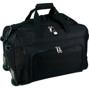 Traveller's Choice 50cm Vanguard Rolling Carry-on Duffel, Black