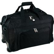Traveller's Choice 50cm Vanguard Rolling Carry-on Duffel, Black