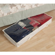 Household Essential 311362 Natural Blended Canvas Underbed Chest