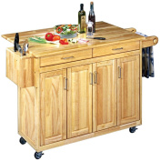 Home styles 5023-95 Wood Top Kitchen Cart with Breakfast Bar