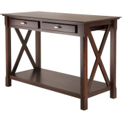 Winsome Xola Console Table with Drawers, Cappuccino