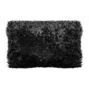 your zone 50.8cm x 66cm fur pillow, rich black