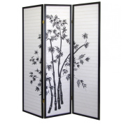 3-Panel Room Divider, Bamboo