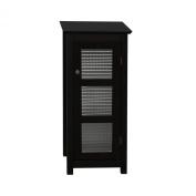 Elegant Home Fashions 6216 Chesterfield Floor Cabinet 1 glass door - Espresso