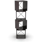 Atlantic 360-Degree Rotating Storage Cubes, Espresso
