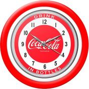 30.5cm Coca-Cola Clock with White Neon, 1950's Style