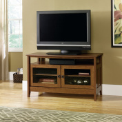 Sauder August Hill Panel TV Stand for TVs up to 119.4cm , Oiled Oak Finish