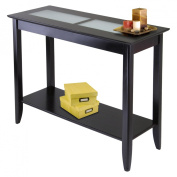 Winsome 92240 Syrah Console / Hall Table with Frosted Glass - Espresso