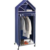 Honey Can Do 80cm Portable Storage Closet, Navy/White Trim