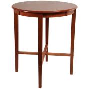 Round Pub Table, Espresso/Cherry