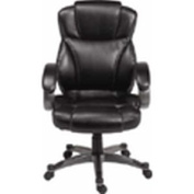 Z-Line Designs Black Executive Chair with Graphite Finished Base