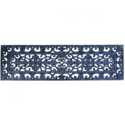 IUC International 194R Fleur Di Lys Stair Tread Recycled Rubber Doormat