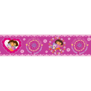 Blue Mountain Wallcoverings NS026442 Dora the Explorer Self-Stick Wall Border