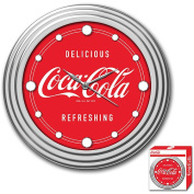 30.5cm Coca-Cola Clock with Chrome Finish, Delicious Style