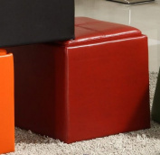Homelegance Ladd Storage Ottoman Cube - Red