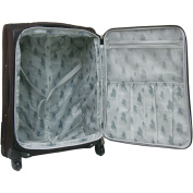 Travellers Club 50cm Expandable Rolling Carry-On with 4 Wheel Spinners, Mocha