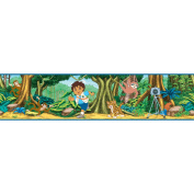 Blue Mountain Wallcoverings Nickelodeon Go Diego Go! Self Stick Border in Blue