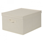 Household Essentials Jumbo Storage Box, Natural Canvas