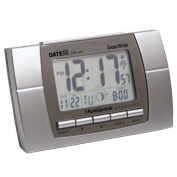 Datexx Radio Control LCD Alarm Clock with Calendar, Temperature, Moon Phase