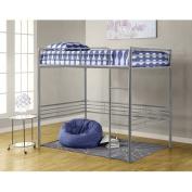 Dorel - Full Metal Loft Bed, Silver