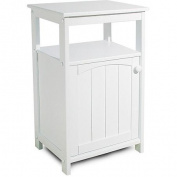Telephone Stand/Bathroom Cabinet, White