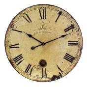 Home Decor Improvements 2511 Large Wall Clock with Pendulum