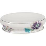 Creative Bath Garden Gate Ceramic Soap Dish, Lilac