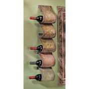 Design Toscano Cafe De Paris 5 Bottle Wall Mounted Wine Rack