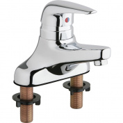 Chicago Faucets Single Handle Centerset Bathroom Faucet