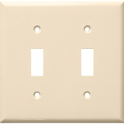 Morris Products 2 Gang Lexan Wall Plates for Toggle Switch in Almond