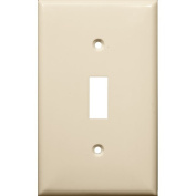 Morris Products 1 Gang Lexan Wall Plates for Toggle Switch in Almond