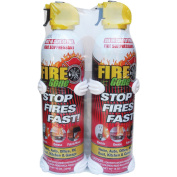 470ml Fire Gone Suppressant with Bracket - Pack of 2