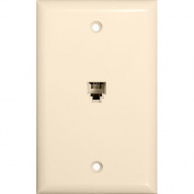 Morris Products Flush Phone Jack in Lt Almond