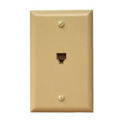 Morris Products Flush Phone Jack in Ivory