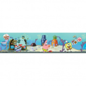 Blue Mountain Wallcoverings Nickelodeon SpongeBob SquarePants Self Stick Wall Border