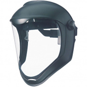 Uvex Bionic Face Shield, Matte Black Frame, Clear Lens