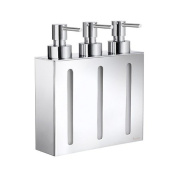 Smedbo Outline Three Containers Soap and Lotion Dispenser in Polished Chrome