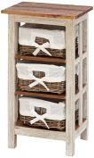 Benzara 38301 Antiqued Wood Rattan Cabinet 29 in. H 15 in. W