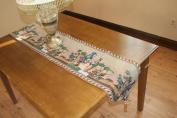 Violet Linen Fruit Bowl Tapestry Design Table Runner