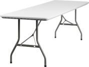 Flash Furniture 80cm W x 240cm L Granite White Plastic Folding Table