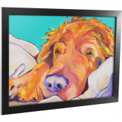 """Trademark Art """"Snoozer King"""" Framed Canvas Art, 18x24"""