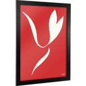 "Trademark Fine Art ""Red Abstract Flower"" Framed Canvas Art, 46cm x 60cm"