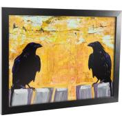 "Trademark Art ""Gossiping"" Framed Canvas Art, 18x24"