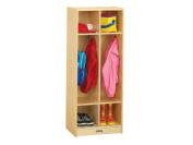 Jonti-Craft Double Locker Wooden Standing Coat Rack
