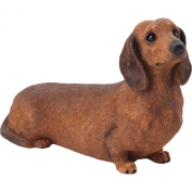 Sandicast Mid Size Dachshund Sculpture in Red