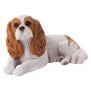 Sandicast Mid Size Cavalier King Charles Spaniel Sculpture in Ruby