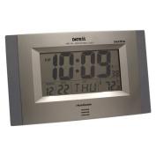 Datexx Radio Control Wall Clock with LCD Calendar, Temperature
