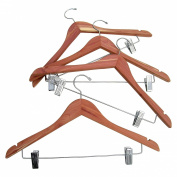 CedarFresh Cedar Hanger with Hanging Clips, Set of 4