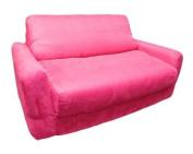 Fun Furnishings Fuchsia Sofa Sleeper with Pillows